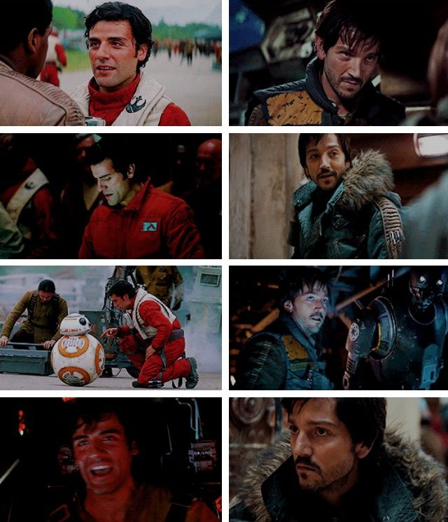 Poe Dameron and Cassian Andor #rogueone