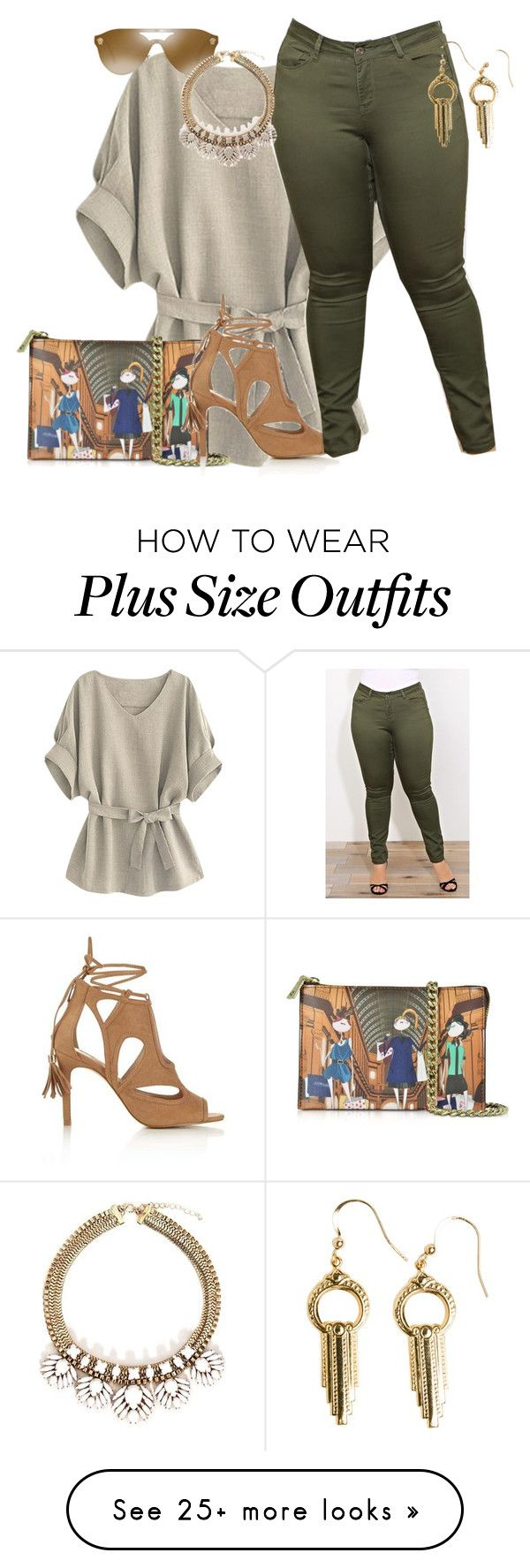 """""""plus size chic"""" by kristie-payne on Polyvore featuring Love Moschino, Miss Selfridge, Versace and Flea Market Girl"""