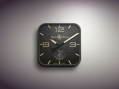 Near iOS clock icon found on Dribbble.