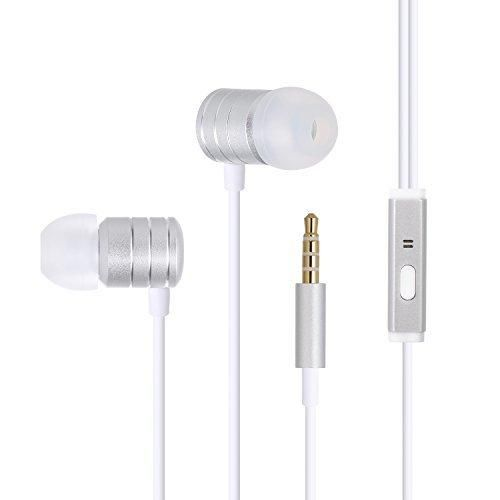 Amoner In-Ear Earphones Stereo Earbuds Noise Isolating Headphones with Remote & Mic for Apple iPhone iPad iPod Samsung Galaxy Android Smartphones
