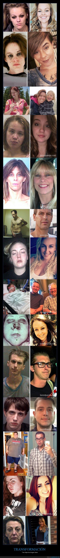 15 Increíbles fotos antes y después mostrando la transformación después de dejar las drogas duras