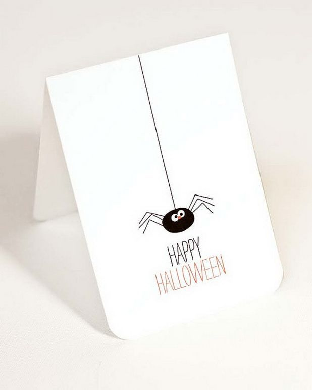 Homemade Halloween Cards and Invitations