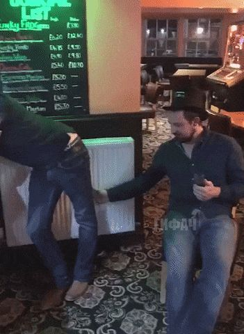 When your friend is very drunk and you want to hang on to him