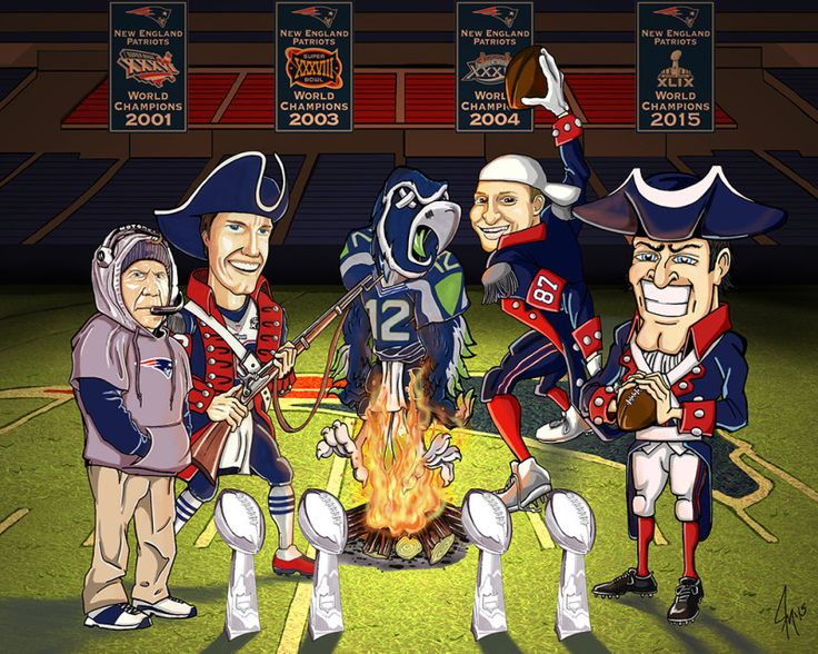New England Patriots Vs Seattle Seahawks In Super Bowl