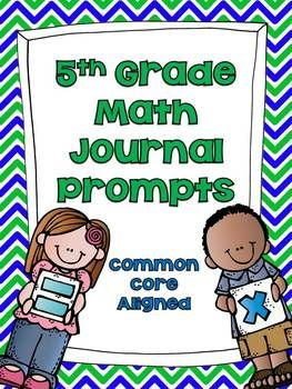 5th Grade Common Core Math Journal Prompts