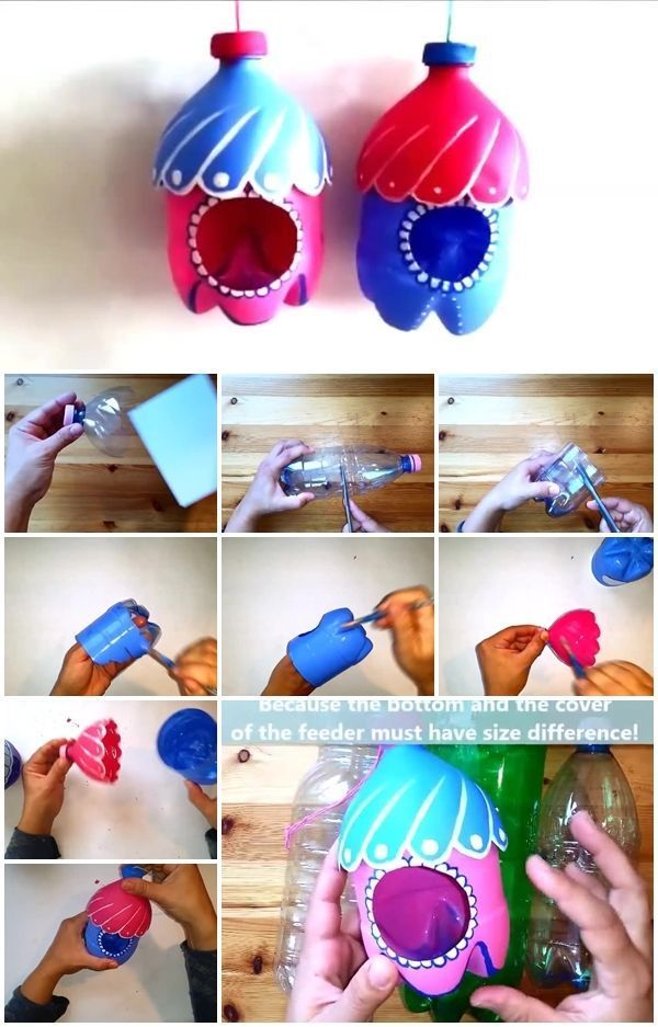 How to Make a Plastic Bottle Bird Feeder | UsefulDIY.com