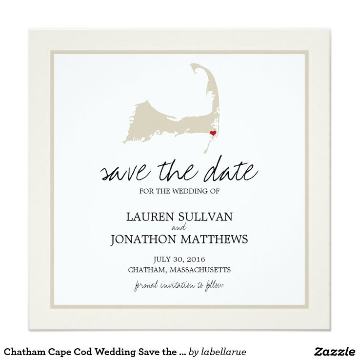 Chatham Cape Cod Wedding Save the Date Invitation