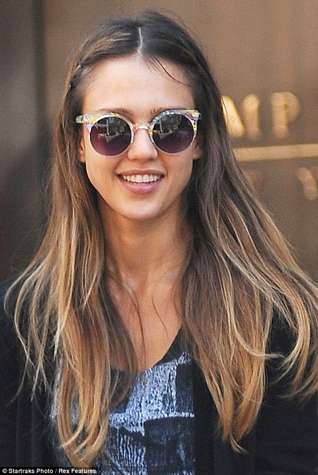 Favourite Shades Jessica Alba Shielded Her Eyes With A
