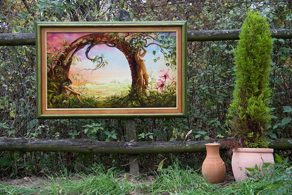 """Gate of Illusion"" - oil painting by Anna Miarczynska -from the open air exhibition ""Welcome Autumn"" / on Behance"