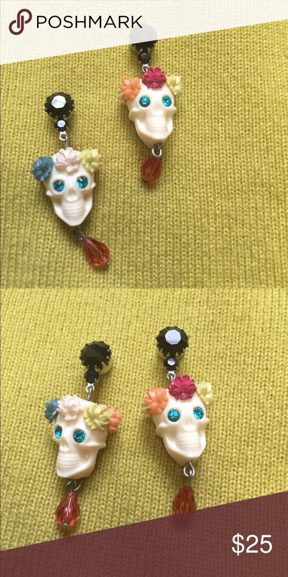Tarina Tarantino Sugar Skull earrings Multi colored and super fun earrings by Tarina Tarantino Tarina Tarantino Jewelry Earrings