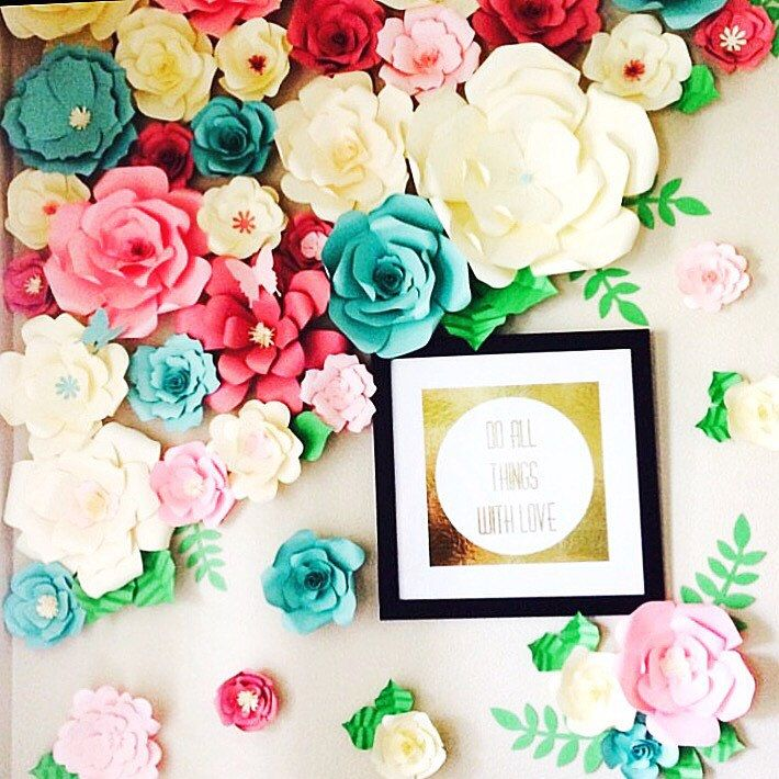 Paper Flower Wall Template: 1126 Best For The Love Of Paper Flowers Group Board Images