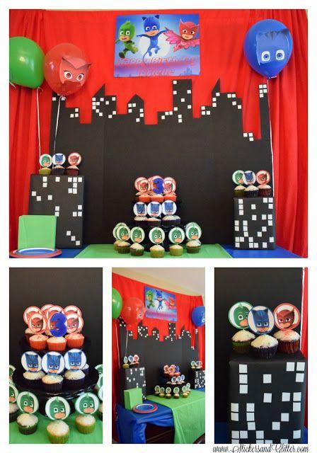 Stickers & Glitter: PJ Masks Birthday Party #disneyside #disneykids