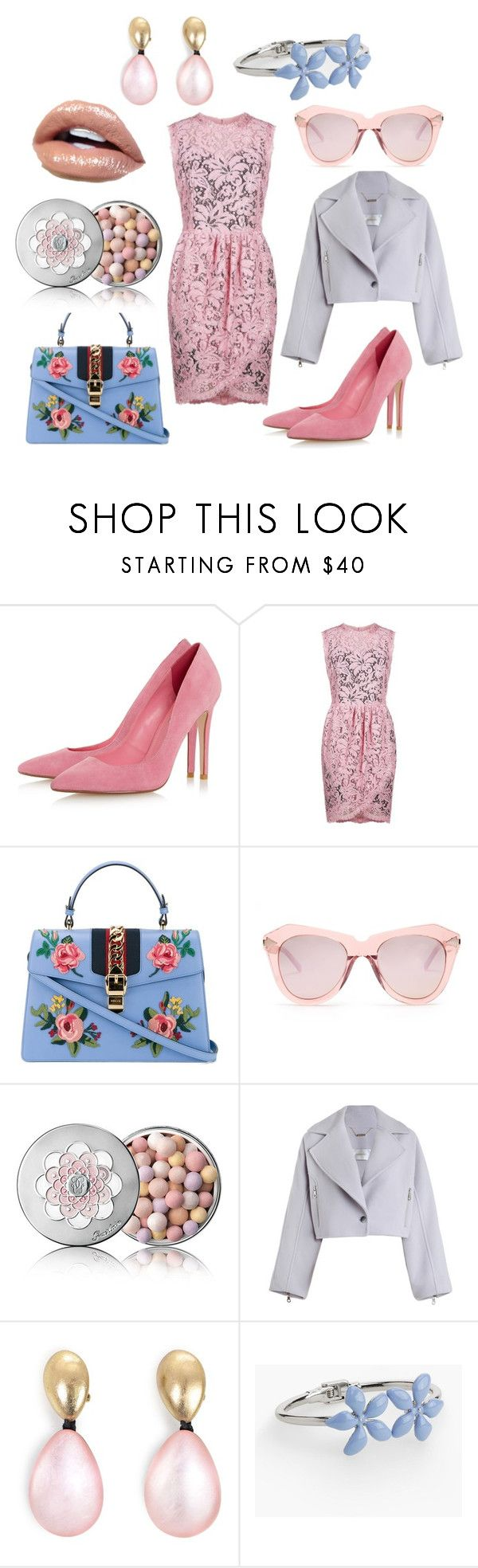 """Романтика"" by evavendoc on Polyvore featuring мода, Dolce&Gabbana, Gucci, Karen Walker, Guerlain, Zimmermann, Monies и Talbots"