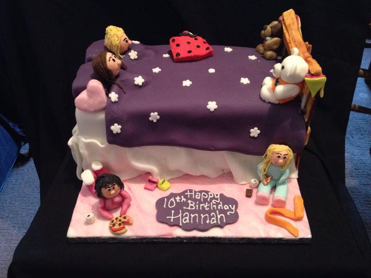 Sleepover girly cake