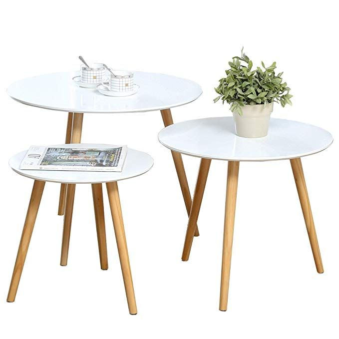 Nesting Tables Set Of 3 Coffee Table Round End Side Table Night Stand Table Telephone Sofa Snack Table F Coffee Table Nesting Tables Nesting Tables Living Room
