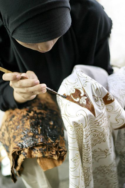 Hand Made Batik Process! Find our more information about Hand made Batik Sarong & Clothing! www.LotusResortWear.com