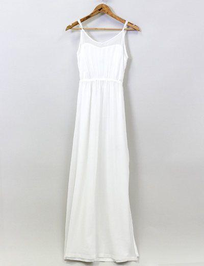 Vestido largo blanco Bershka