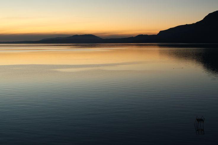 Lago Villarrica desde Pucón, Región de La Araucanía, Chile