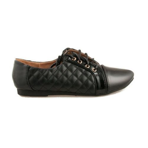 New Women's Flat  Pumps Lace Up Black Casual Shoes #G2G #Trainers #Casual