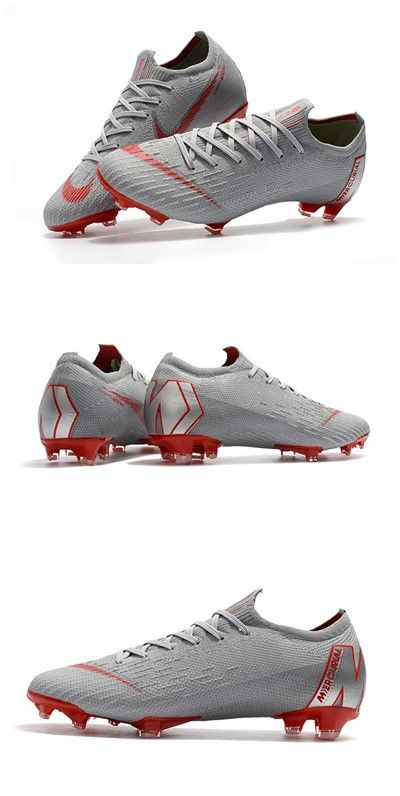 Nike Mercurial Vapor XII Elite FG Zapatos de Fútbol - Gris Rojo ... 02e6ace360213