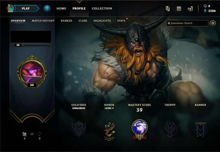 Gaming PinWire: 3386 BE | Unranked | Smurf | Level 30