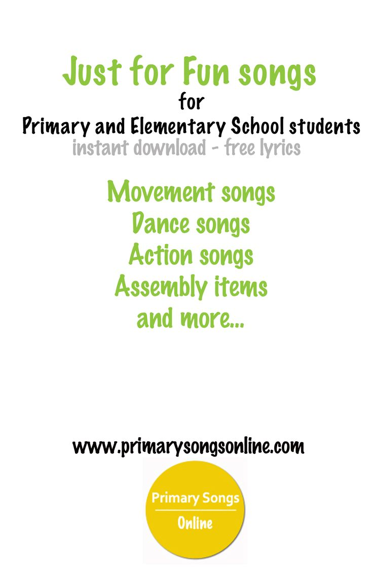 Fun dance, movement and action songs for children.  www.primarysongsonline.com