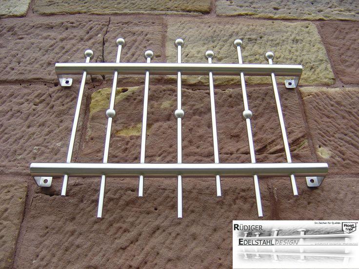 FGM-006 Edelstahl Fenstergitter Schutzgitter Sicherheitstechnik Fenstersicherung