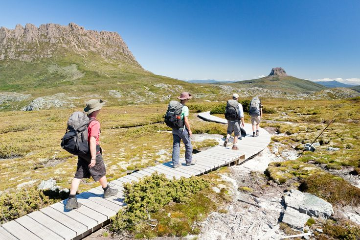 Cradle Mountain Huts Walk. Discover one of Australia's most spectacular World Heritage Areas while trekking the world famous Overland Track in the peaceful and exquisite terrain of Cradle Mountain and Lake St Clair National Park, Tasmania.