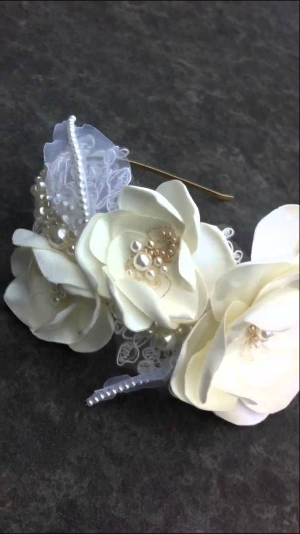 Beautiful handmade flower crown for brides - SoBridelicious hair adornments on Etsy