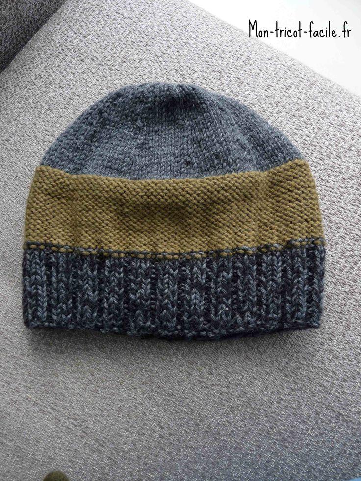 tuto bonnet homme tricot facile