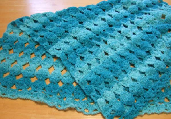 No Beginning Chain Egg Blanket - Afghans Crocheted My Patterns - - Mama's Stitchery Projects