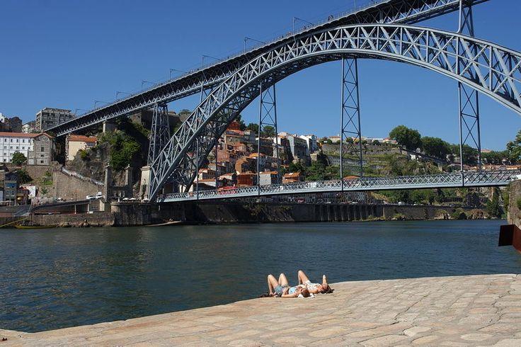 Obras de arte: pontes, viadutos, túneis, barragens, diques, etc. Foto: #Ponte D. Luís, em Portugal, em estrutura metálica, entre Vila Nova de #Gaia e #Porto