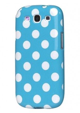 Coque bleu à pois blancs Galaxy S3  5,48€