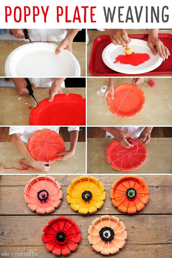 Paper Plate Woven Poppies Easter Arts And Crafts Poppy Craft