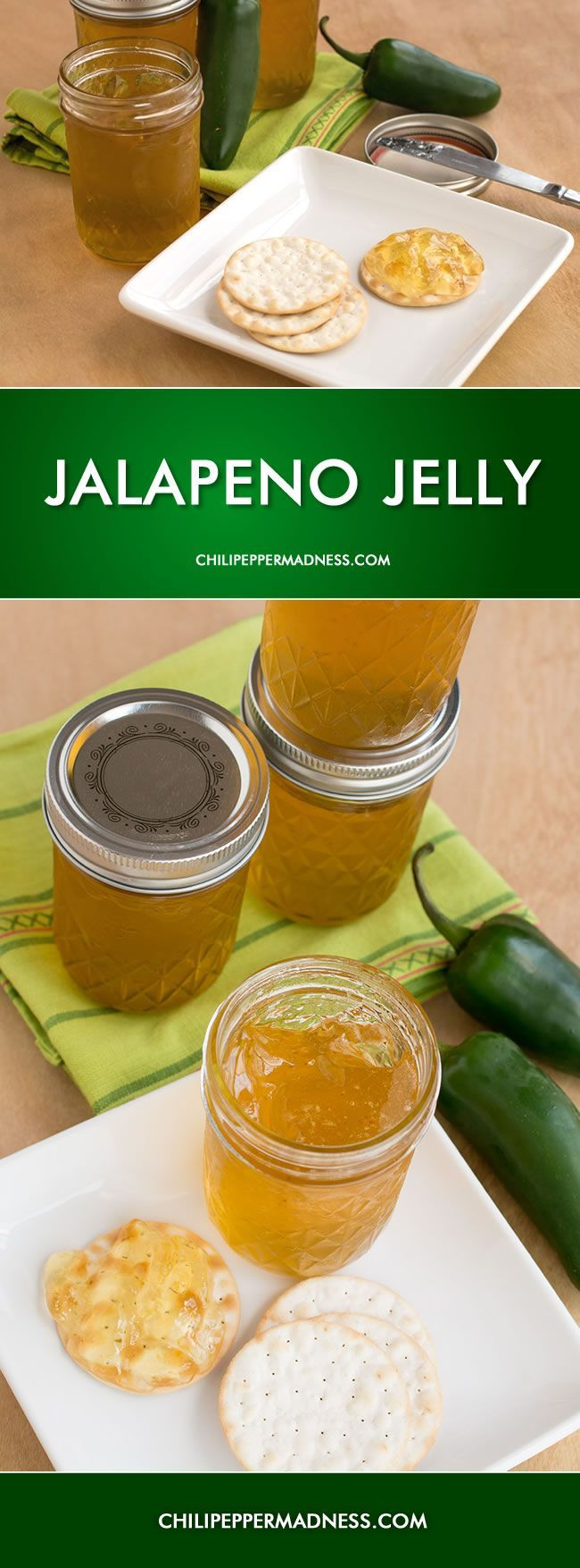 Jalapeno Jelly - great on bread or a cracker, topping for fish or meat, or on your sandwich.