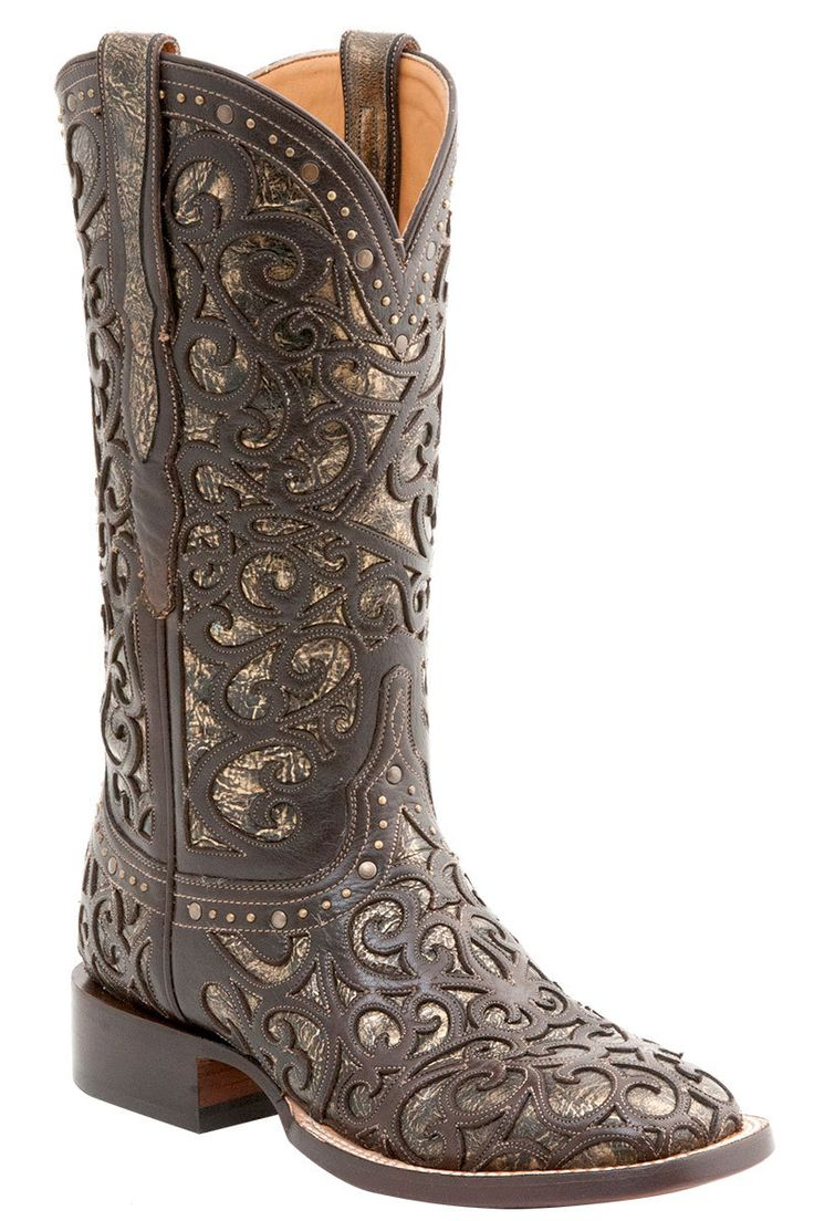 Lucchese Sierra Women's Dark Brown Cowgirl Boots - HeadWest Outfitters