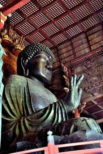 The Daibutsu (Great Buddha), Nara, Japan  J'y suis allé en 2009 c'est un superbe temple voir mon blog http://voyage-japon-2009.blogspot.fr/?m=0