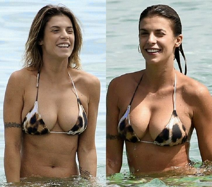 The model, Elisabetta Canalis was seen making a splash in Sardinia, Italy on Tuesday, July 8, 2014 with her boyfriend, Brian Perri (4 Videos and 28 PHOTOS).