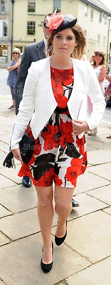 6-8-13 = Princess Eugenie join guests at the wedding of Lady Natasha Rufus Isaacs, co-founder of ethical fashion label Beulah London, to lawyer Rupert Finch in the Cotswolds town of Cirencester.