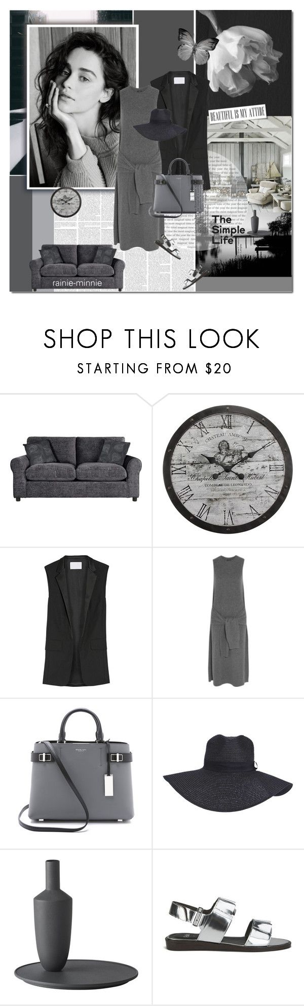 """Emilia Clark"" by rainie-minnie ❤ liked on Polyvore featuring Stonebriar Collection, Alexander Wang, Joseph, Michael Kors, Boohoo, Muuto and Folk"
