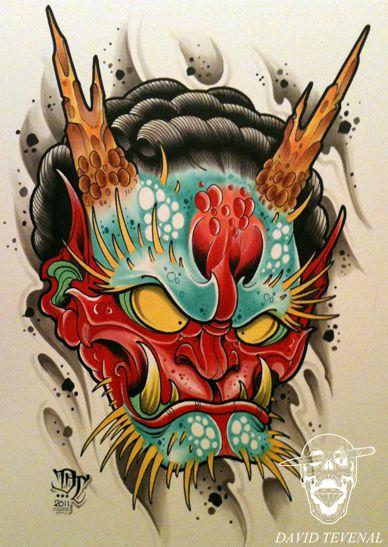 David Tevenal at Memento Tattoo and Gallery in Columbus, Ohio.