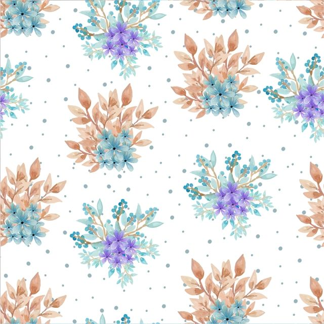 Watercolor Floral Seamless Pattern Seamless Nature Floral Png And Vector With Transparent Background For Free Download Floral Watercolor Flower Background Wallpaper Pink Pattern Background