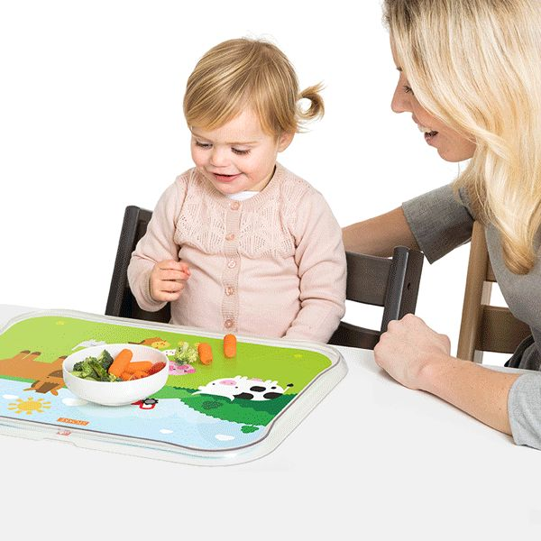 An unbeatable Stokke combo: our Tripp Trapp chair + Table Top activity mat. With 4 interchangeable activity templates, Table Top encourages your little one to learn, share and connect.  Shop it now by clicking the link in our profile👆 #Stokke #babyactivities #toddlerapproved #TableTop