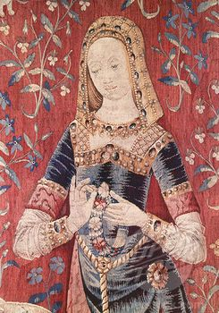 Lady and the Unicorn - Sense of Smell (Detail) 15th Century Tapestry (Flemish)