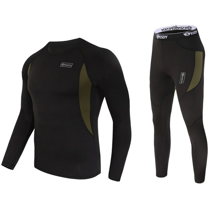 2 piece  winter  thermal underwear Sets Outdoor Men's Sportswear  Perspiration Wicking Thermal Underwear Sportsman Wear 3131