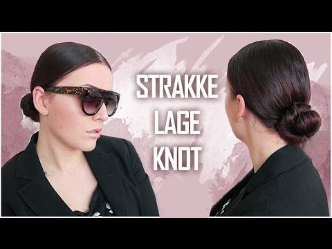Strakke lage knot ❤ haartutorial   Beautygloss