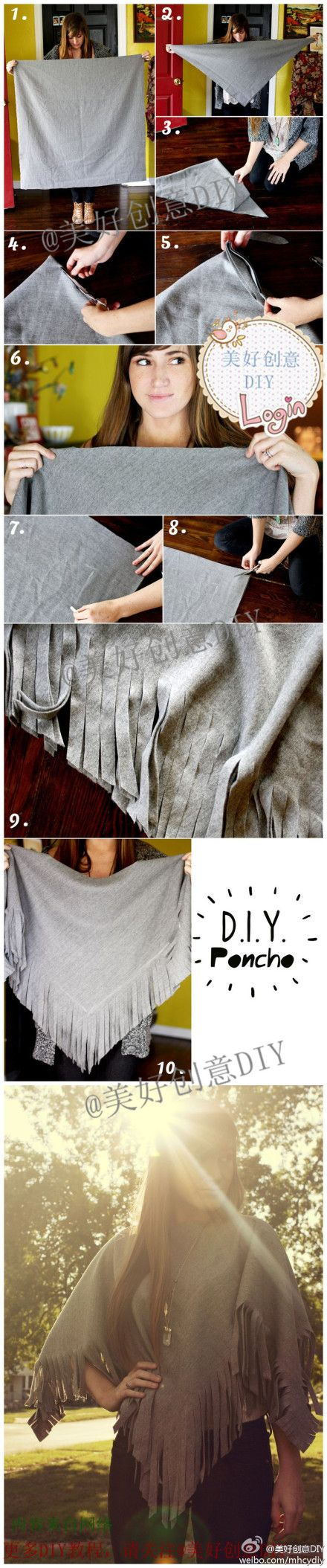 DIY a cape form your old clothes