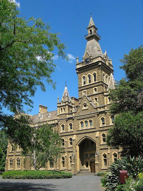 Ormond College Melbourne. Neo-Gothic