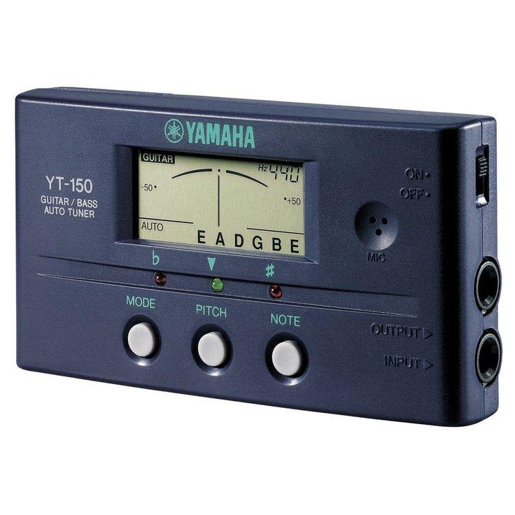 Yamaha YT150 Guitar/Bass Auto Tuner, Black