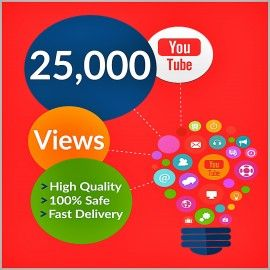 Buy 25,000 YouTube Views for your YouTube Video. Worldwide Views. Delivery Time 48 – 72 Hours. 100% Safe and Quality Views.